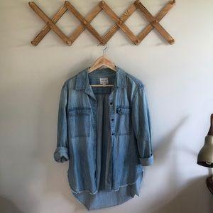 Melrose and Market Lightweight Jean Buttonup Shirt
